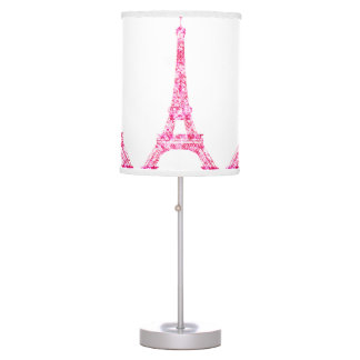 PixDezines Paris, pink eiffel tower Table Lamp
