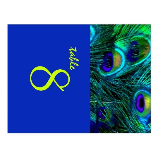 PixDezines Peacock feather/cobalt/diy fonts+colour Postcard