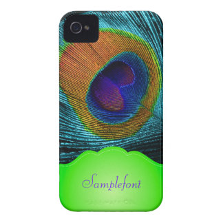 PixDezines peacock feather/ diy background colors Case-Mate iPhone 4 Case