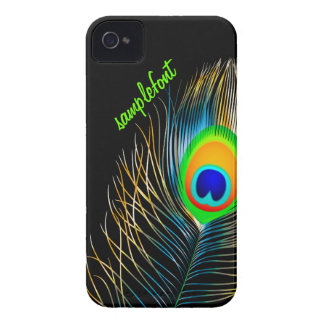 PixDezines peacock plume/ diy background colors iPhone 4 Case-Mate Case