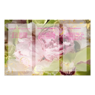 PixDezines Peonies/Green Cymbidium Bouquets Flyer