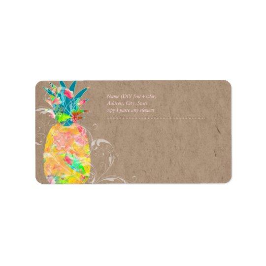 PixDezines Pineapple+Floral Watercolor