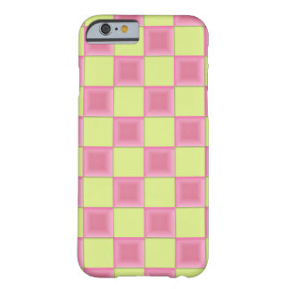 PixDezines Pink Candy+Green Checkers Barely There iPhone 6 Case