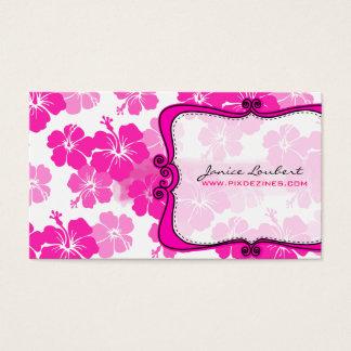 PixDezines pink hibiscus/diy background Business Card