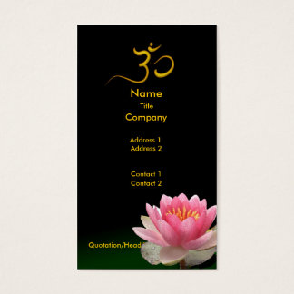 PixDezines Pink Lotus, meditative healers Business Card