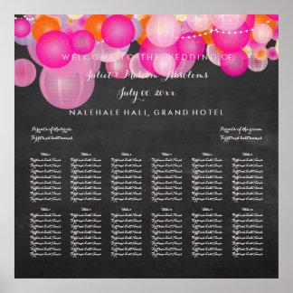 PixDezines Pink/Orange/Lanterns/seating chart