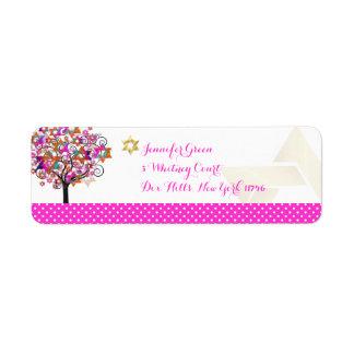 PixDezines Pink Tree of Life/Bat Mitzvah