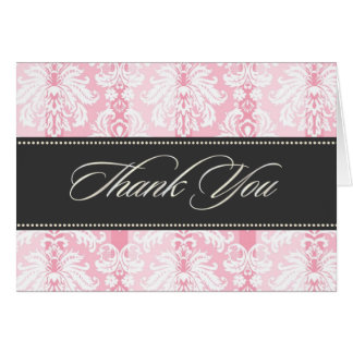 PixDezines Pique Damask, Vintage Thank You Card