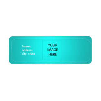 PixDezines Plain Aqua Easy Template Return Address Label