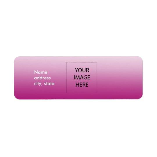 PixDezines Plain Rose Easy Template Return Address Label