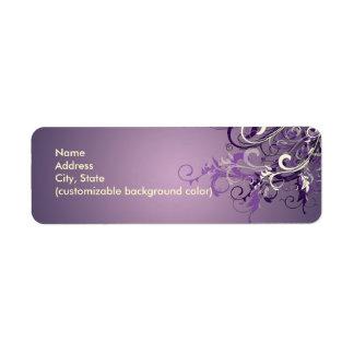 PixDezines Plum Vanilla Swirls Custom Return Address Label