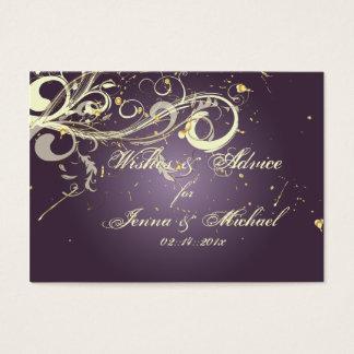 PixDezines Plum Vanilla Swirls, Wishes+Advice Business Card