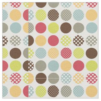 PixDezines polka dots/diy background color Fabric