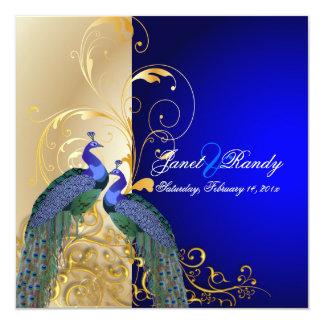 PixDezines psychedelic peacock/cobalt blue Card
