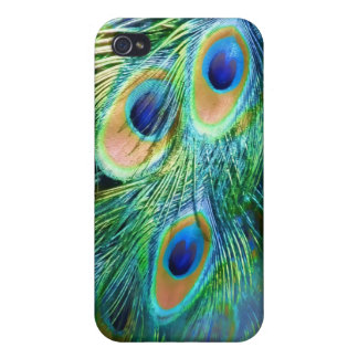 PixDezines Psychedelic Peacock/cobalt iPhone 4/4S Cases