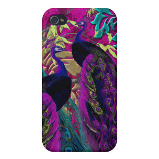 PixDezines Psychedelic Peacock Cover For iPhone 4