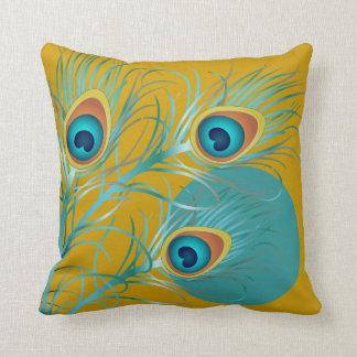 PixDezines psychedelic peacock/diy background Throw Pillow