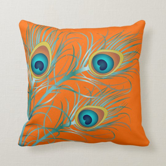 PixDezines psychedelic peacock/diy background Throw Pillow
