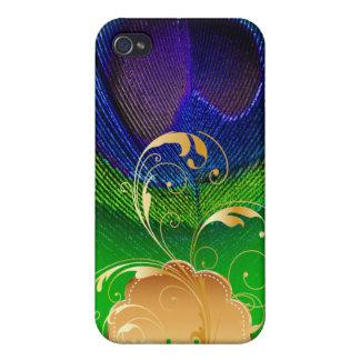 PixDezines Psychedelic Peacock+filigree swirl iPhone 4/4S Case
