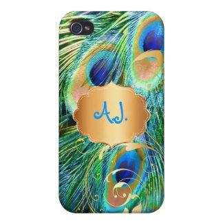 PixDezines Psychedelic Peacock+filigree swirl iPhone 4 Case