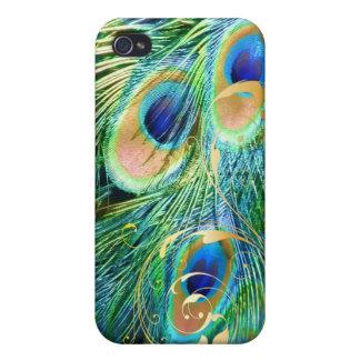 PixDezines Psychedelic Peacock+filigree swirl iPhone 4 Cover