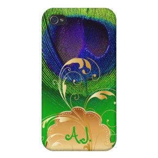 PixDezines Psychedelic Peacock+filigree swirl iPhone 4 Covers