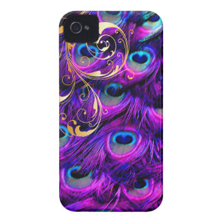 PixDezines Psychedelic Peacock+filigree swirls iPhone 4 Cover