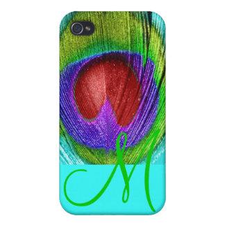 PixDezines Psychedelic Peacock, Monogram Case For iPhone 4