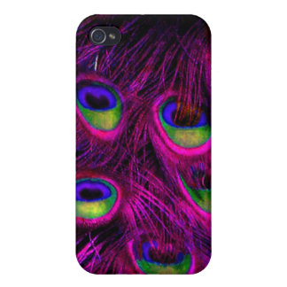 PixDezines Psychedelic Peacock/pink+cobalt iPhone 4/4S Cases