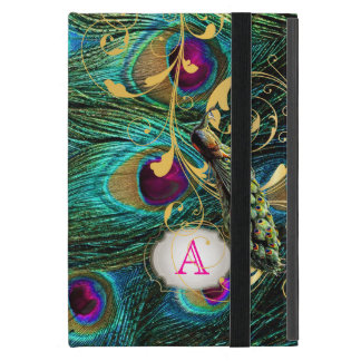 PixDezines psychedelic peacock/removable label Covers For iPad Mini
