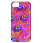 PixDezines psychedelic pink peacock feather Case-Mate iPhone Case