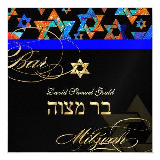 PixDezines Psychedelic Stars, Bar Mitzvah Card
