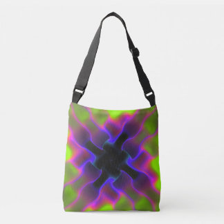 PixDezines Psychedelic Techno Dance/Neon Lights Crossbody Bag