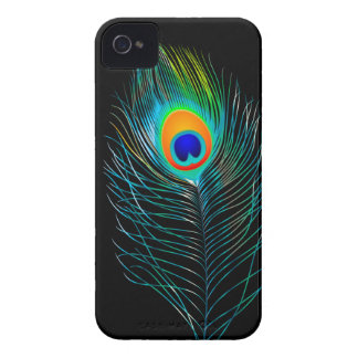 PixDezines pzazz peacock plume+filigree swirls iPhone 4 Case-Mate Case