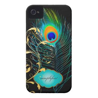 PixDezines pzazz peacock plume+filigree swirls iPhone 4 Covers