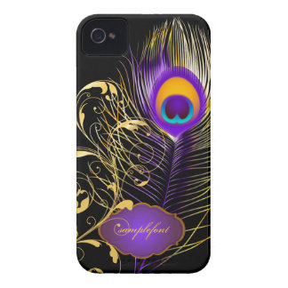 PixDezines pzazz peacock plume+filigree swirls iPhone 4 Covers