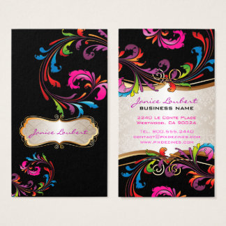 PixDezines Rainbow Swirls Business Card