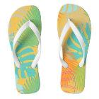 PixDezines rainforest/DIY background colour Flip Flops