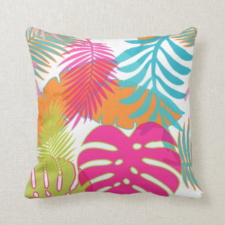 PixDezines rainforest/monstera/diy background Throw Pillow