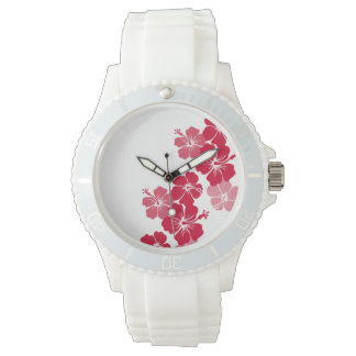 PixDezines red hibiscus/diy background Watch