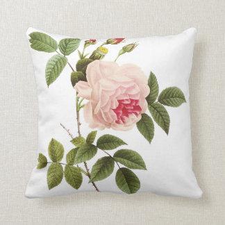PixDezines redoute roses Throw Pillow