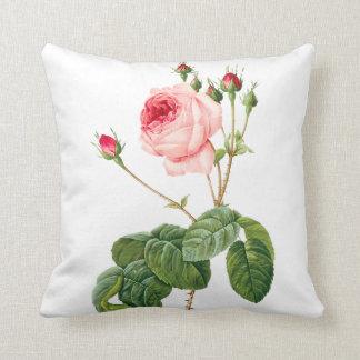 PixDezines Redoute Vintage Roses/DIY background Throw Pillow