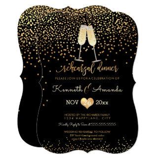 PixDezines Rehearsal Dinner/Champagne Bubbles Card