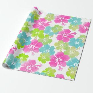 PixDezines retro hibiscus Wrapping Paper