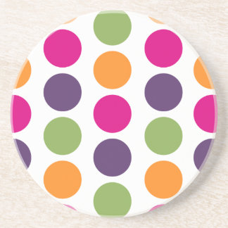 PixDezines Retro Polka Dots/DIY background color! Coaster