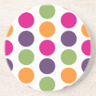 PixDezines Retro Polka Dots/DIY background colour! Coaster