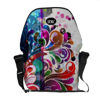 PixDezines retro swirls/diy background colro Courier Bags