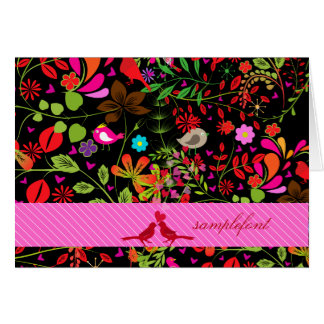 PixDezines retro tree/DIY background +trim colors Card