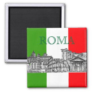 PixDezines Roma, Rome... travel souvenir gifts Square Magnet