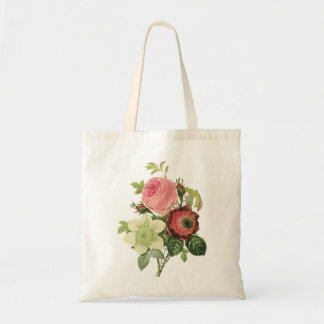 PixDezines Roses/Clementine/Anemone/Redoute Tote Bag